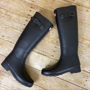 Hunter Black Refined Slim Fit Rain Boots